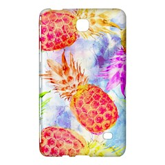 Colorful Pineapples Over A Blue Background Samsung Galaxy Tab 4 (7 ) Hardshell Case