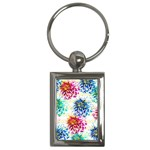 Colorful Dahlias Key Chains (Rectangle)  Front