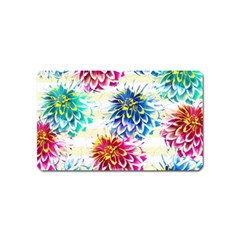 Colorful Dahlias Magnet (name Card) by DanaeStudio