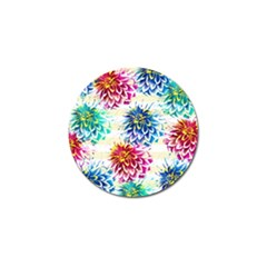 Colorful Dahlias Golf Ball Marker (10 Pack) by DanaeStudio