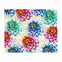 Colorful Dahlias Small Glasses Cloth by DanaeStudio