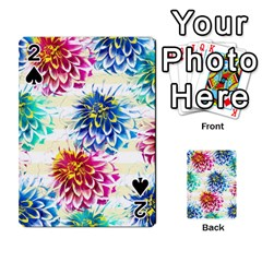 Colorful Dahlias Playing Cards 54 Designs  by DanaeStudio