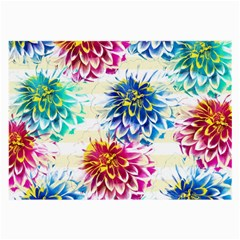 Colorful Dahlias Large Glasses Cloth (2 Side) by DanaeStudio