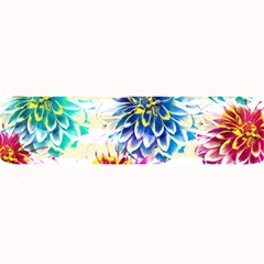 Colorful Dahlias Large Bar Mats by DanaeStudio