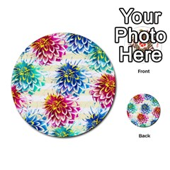 Colorful Dahlias Multi Purpose Cards (round)  by DanaeStudio