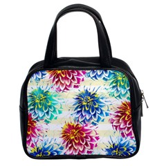 Colorful Dahlias Classic Handbags (2 Sides) by DanaeStudio
