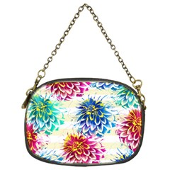 Colorful Dahlias Chain Purses (two Sides)