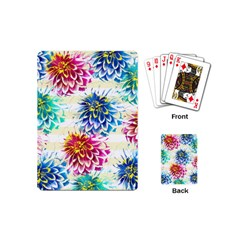 Colorful Dahlias Playing Cards (mini)  by DanaeStudio