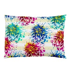Colorful Dahlias Pillow Case (two Sides) by DanaeStudio