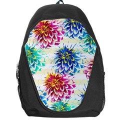 Colorful Dahlias Backpack Bag by DanaeStudio