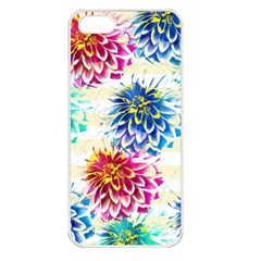 Colorful Dahlias Apple Iphone 5 Seamless Case (white) by DanaeStudio