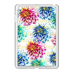 Colorful Dahlias Apple Ipad Mini Case (white) by DanaeStudio