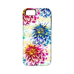 Colorful Dahlias Apple Iphone 5 Classic Hardshell Case (pc+silicone) by DanaeStudio