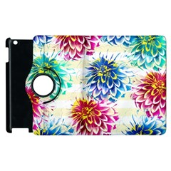 Colorful Dahlias Apple Ipad 3/4 Flip 360 Case by DanaeStudio