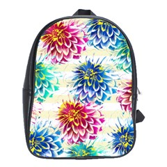 Colorful Dahlias School Bags (xl)  by DanaeStudio