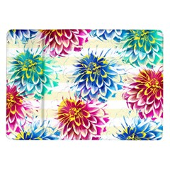 Colorful Dahlias Samsung Galaxy Tab 10 1  P7500 Flip Case by DanaeStudio