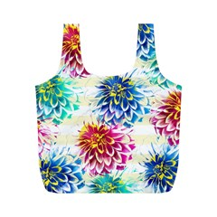 Colorful Dahlias Full Print Recycle Bags (m)  by DanaeStudio