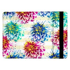 Colorful Dahlias Samsung Galaxy Tab Pro 12 2  Flip Case by DanaeStudio