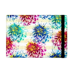 Colorful Dahlias Ipad Mini 2 Flip Cases by DanaeStudio