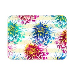 Colorful Dahlias Double Sided Flano Blanket (mini)  by DanaeStudio