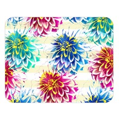 Colorful Dahlias Double Sided Flano Blanket (large)  by DanaeStudio