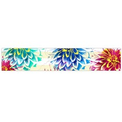 Colorful Dahlias Flano Scarf (large) by DanaeStudio