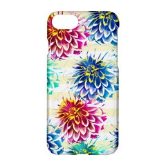 Colorful Dahlias Apple Iphone 7 Hardshell Case by DanaeStudio