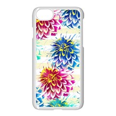 Colorful Dahlias Apple Iphone 7 Seamless Case (white) by DanaeStudio