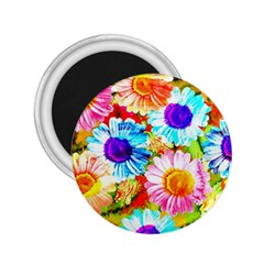 Colorful Daisy Garden 2 25  Magnets by DanaeStudio