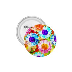 Colorful Daisy Garden 1 75  Buttons by DanaeStudio