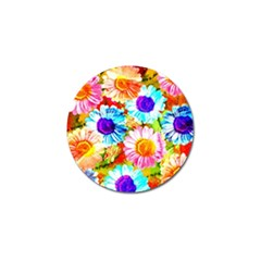 Colorful Daisy Garden Golf Ball Marker by DanaeStudio