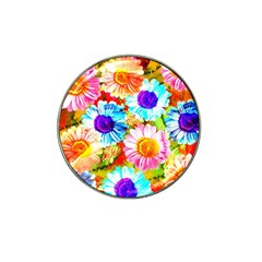 Colorful Daisy Garden Hat Clip Ball Marker (10 Pack) by DanaeStudio