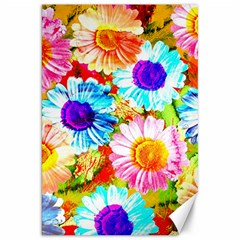 Colorful Daisy Garden Canvas 20  X 30   by DanaeStudio