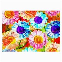 Colorful Daisy Garden Large Glasses Cloth (2 Side) by DanaeStudio