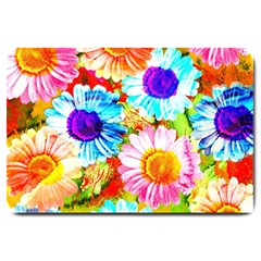 Colorful Daisy Garden Large Doormat