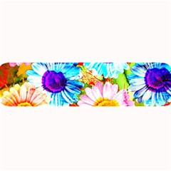 Colorful Daisy Garden Large Bar Mats by DanaeStudio