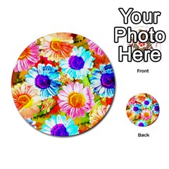 Colorful Daisy Garden Multi Purpose Cards (round)  by DanaeStudio