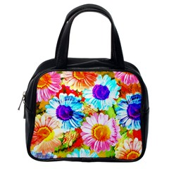 Colorful Daisy Garden Classic Handbags (one Side) by DanaeStudio