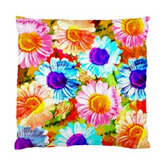 Colorful Daisy Garden Standard Cushion Case (two Sides) by DanaeStudio