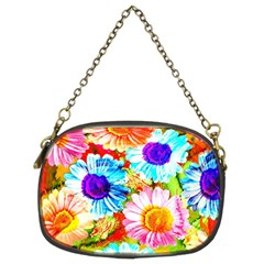 Colorful Daisy Garden Chain Purses (two Sides)  by DanaeStudio