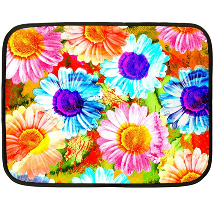 Colorful Daisy Garden Double Sided Fleece Blanket (Mini)