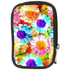 Colorful Daisy Garden Compact Camera Cases by DanaeStudio