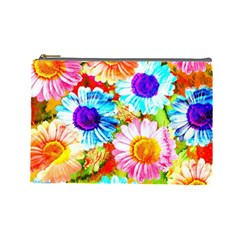 Colorful Daisy Garden Cosmetic Bag (large)