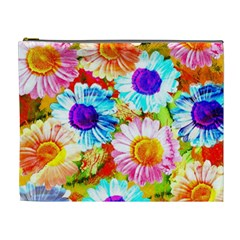 Colorful Daisy Garden Cosmetic Bag (xl)