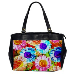 Colorful Daisy Garden Office Handbags by DanaeStudio