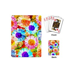 Colorful Daisy Garden Playing Cards (mini)  by DanaeStudio