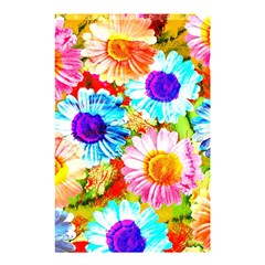 Colorful Daisy Garden Shower Curtain 48  X 72  (small)  by DanaeStudio