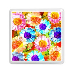 Colorful Daisy Garden Memory Card Reader (square)
