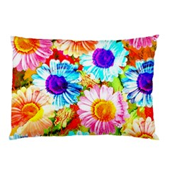 Colorful Daisy Garden Pillow Case (two Sides)
