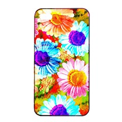 Colorful Daisy Garden Apple Iphone 4/4s Seamless Case (black) by DanaeStudio